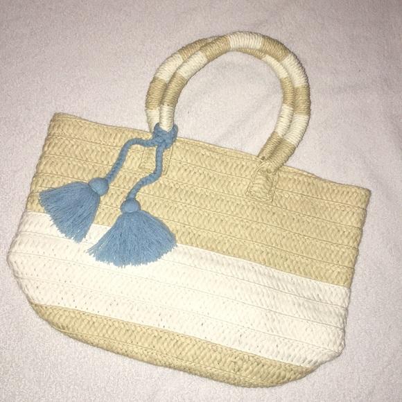 Altru Straw Tassel Bag